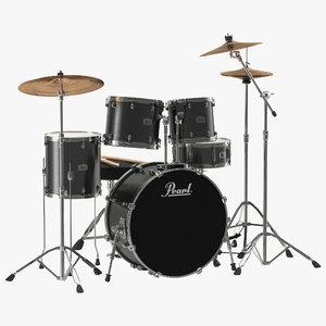 3d drum kit modeled
