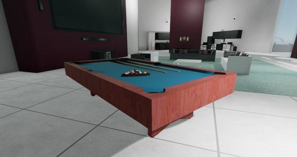 free x model pool table