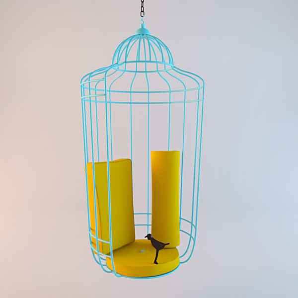 cageling bird cage 3d model