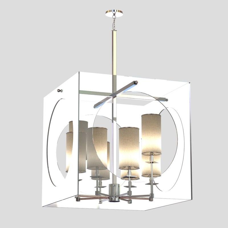 3d chandelier light regina andrew model