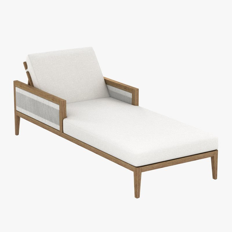 3d model chaise lounge brizo cushions