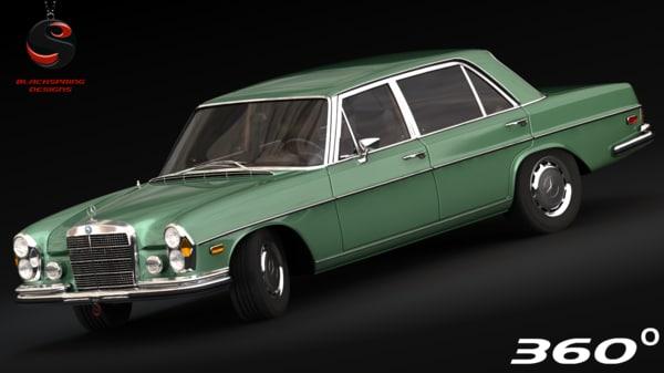 mercedes-benz 300 sel 1972 3d model