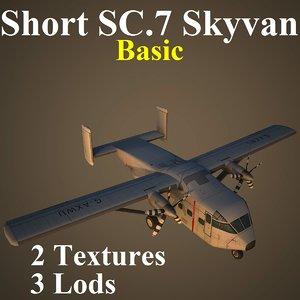short sc 7 basic 3d model