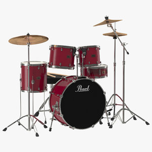 drum kit 2 modeled 3d c4d