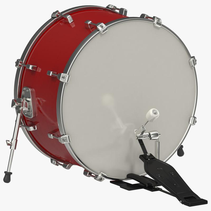 3d max bass drum