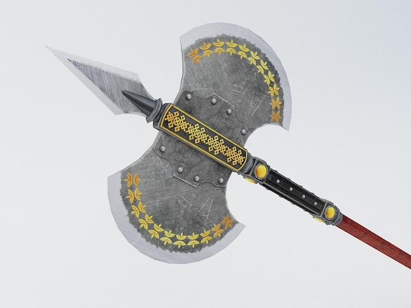 battle axe 3d model