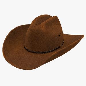3d cowboy hat