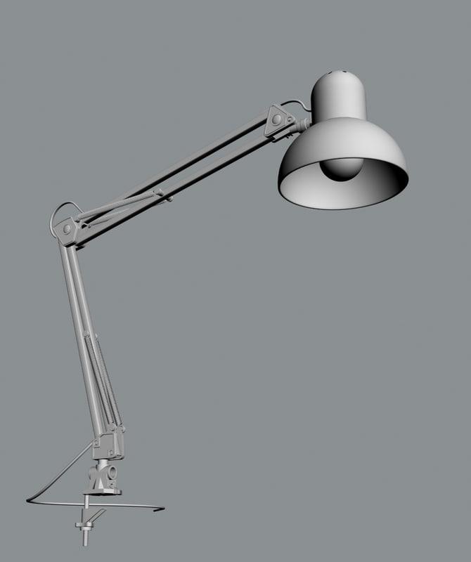 3d table lamp model