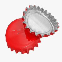 3ds max old bottle cap 3