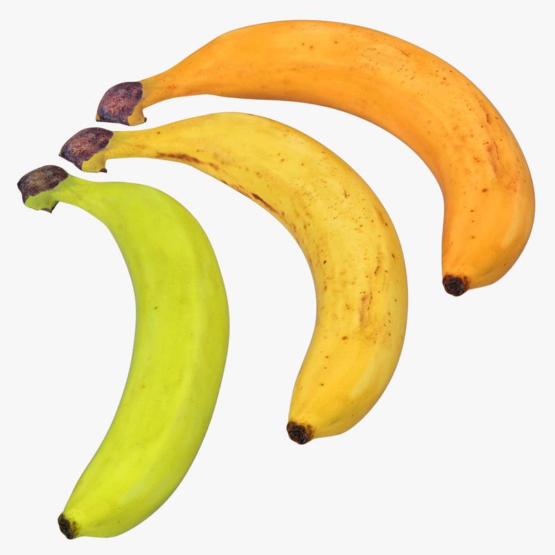 bananas modeled 3d model