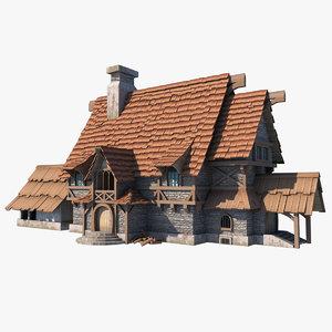 fantasy house fbx
