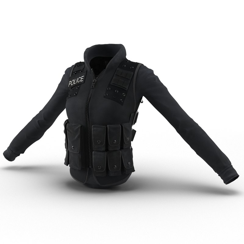 swat woman uniform 6 3d model