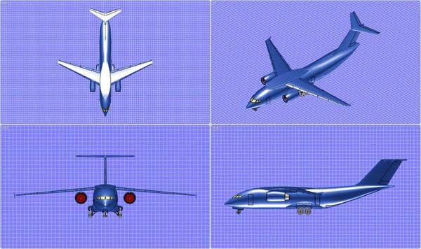 3dm antonov an-178 transport aircraft