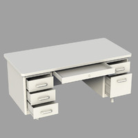 3d model desk metal