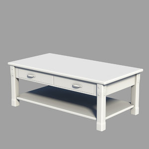 3dsmax coffee table rectangle