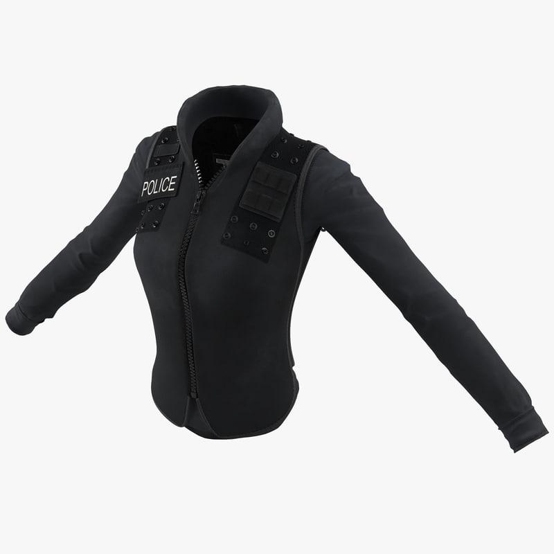 3d swat woman uniform 7