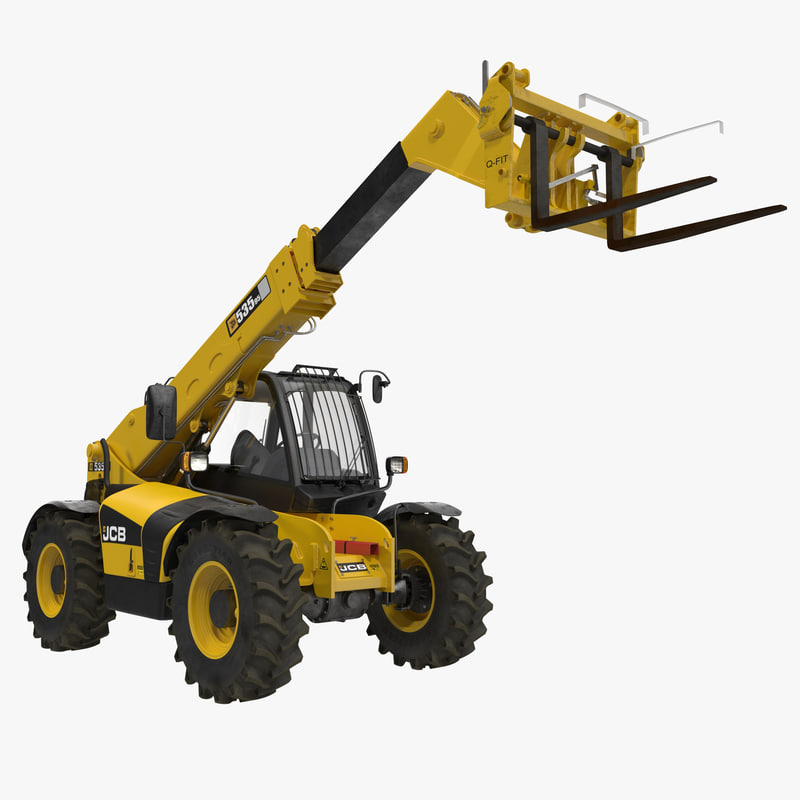 3d model of telescopic handler forklift 535