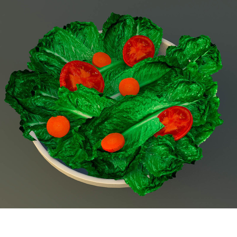3d bowl salad