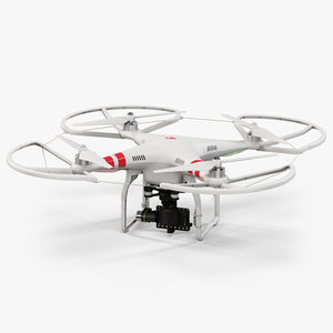 dji phantom 2 quadcopter 3d model