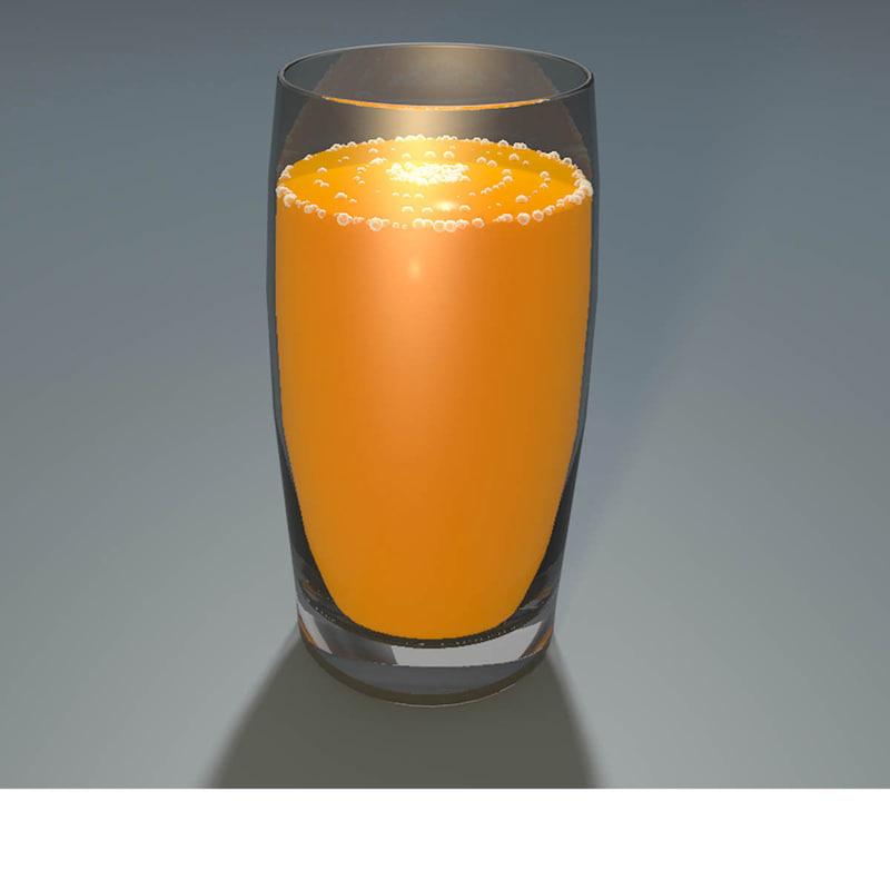 c4d glass orange juice
