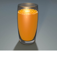 c4d glass orange juice