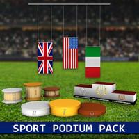 3d model pack sport podium