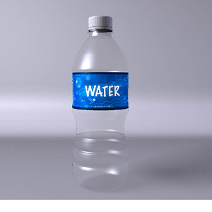 3d bottle water