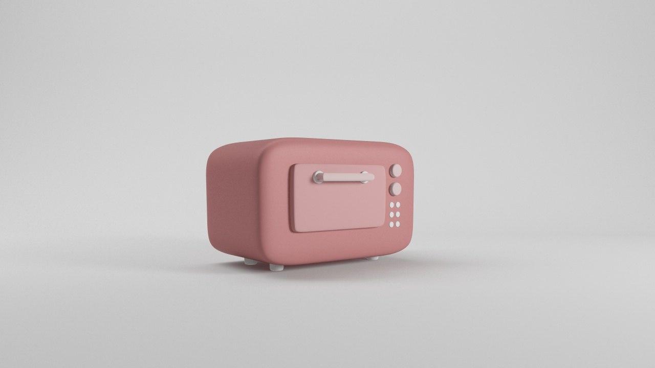3d cartoon toaster