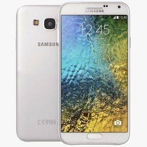 samsung galaxy e5 white 3d model