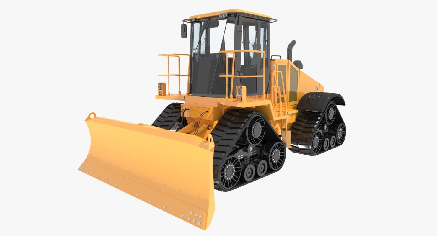 speed bulldozer crawler construction 3d 3ds