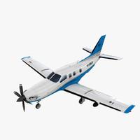 3d tbm850 socata aircraft tbm