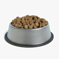 bowl dog food 3d 3ds