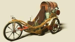tricycle wheels 3d model