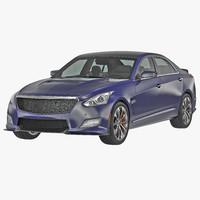 generic sedan 2 simple 3d model