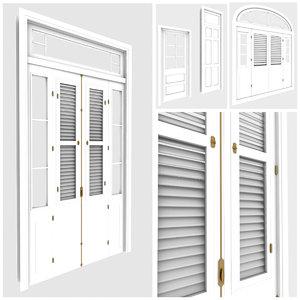 tropical windows doors miami 3d model