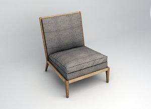 3d liaigre-infante lounge chair model