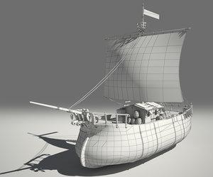 3d ready fantasy ship