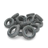 pile tires 3d model