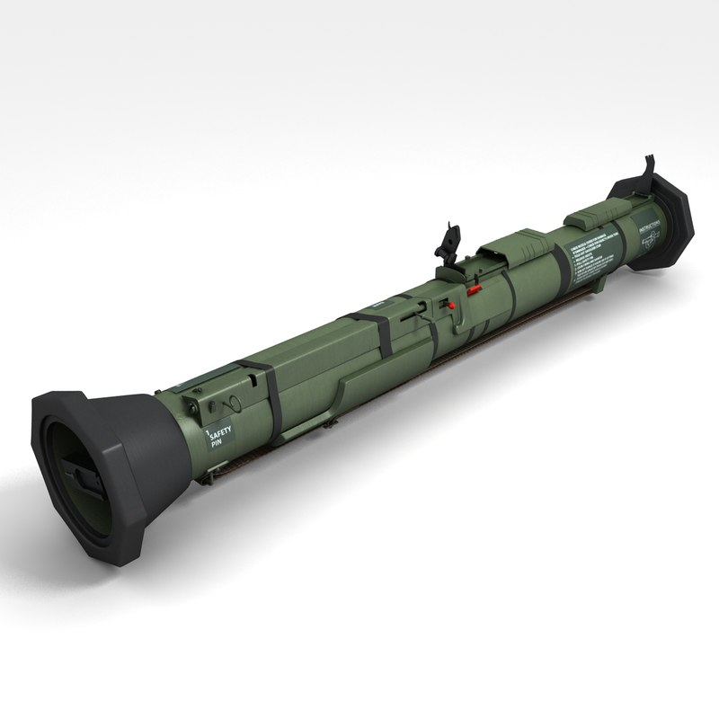 3d at4 anti tank grenade launcher model