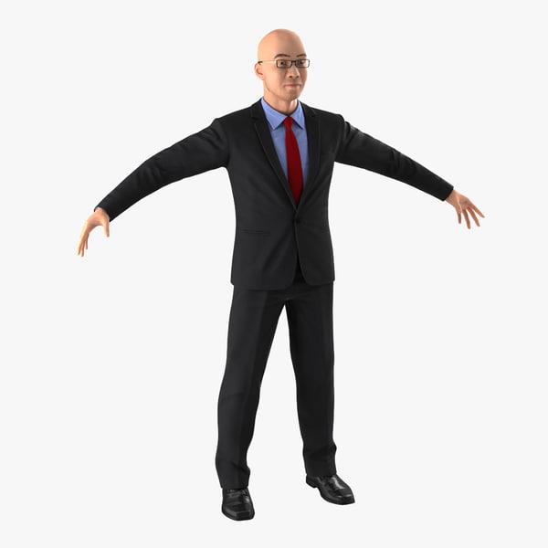 asian businessman modeled 3d model