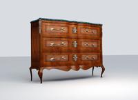 antique console 3d obj