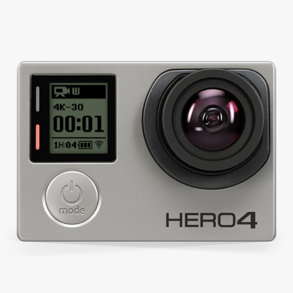 3d model gopro hero4 black edition