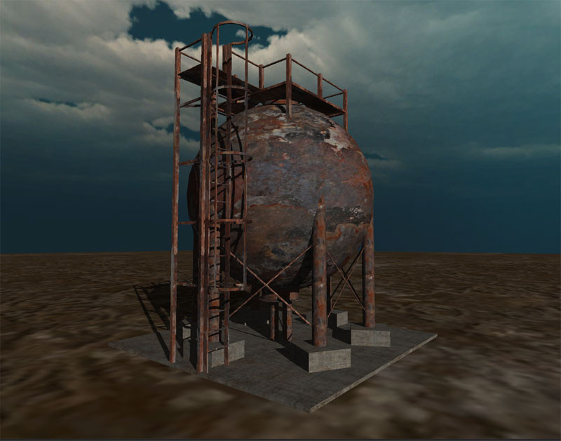 3ds max industrial tank