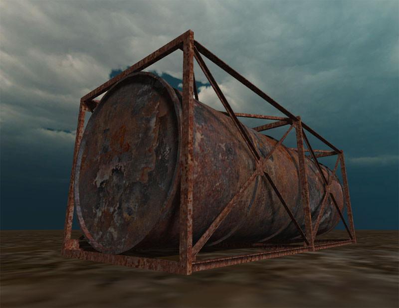 3d model of industrial tank