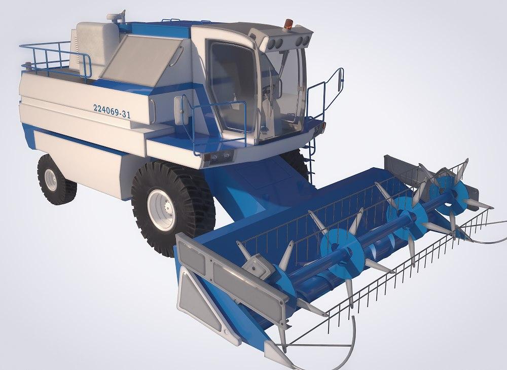 3d harvester model