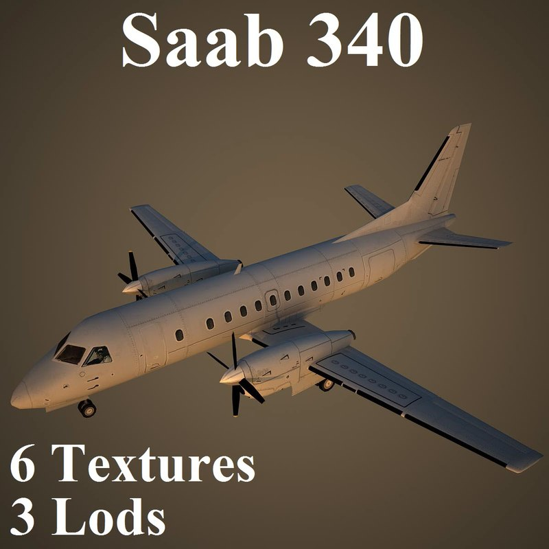 3ds max saab 340