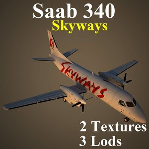 3d saab 340 skx model