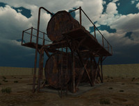 industrial tank 3ds