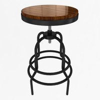 industrial mansard stool 3d model