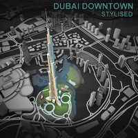 Dubai Downtown Stylised
